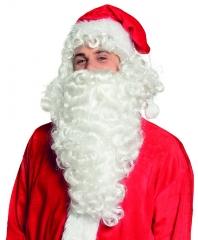 Nikolausperücke Nikolaus Weihnachtsmann Bart und Perücke de Luxe