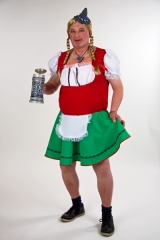 Herren Dirndl Liesel Oktoberfest oder Junggesellenabschied Trachtenkle