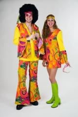 Hippie Herrenkostüm 60er 70iger Jahre Faschingskostüm Partykostüm
