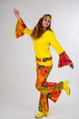 Hippie Mädchen Damenkostüm 70er Jahre 60er Jahre Partyoutfit Karneval