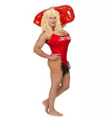 Rettungsschwimmer Junggesellenabschied roter Badeanzug