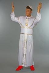Papstgewand Geistlicher Papstkostüm Heiliger Vater Gewand