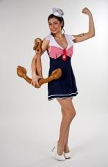 Sexy Matrosen Minikleid Seefahrerin Damenkostüm Matrosenkostüm