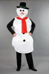 Schneemann Kostüm in Universalgröße Weihnachtskostüm Unisex