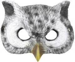 Eulenmaske Schleiereule Waldkautz Uhu Vogelmaske