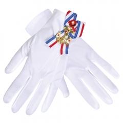 Matrosin Ringelstrumpfhose und passend dazu ein paar Handschuhe