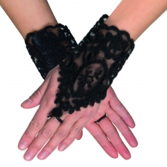 Schwarze Handschuhe Spitzenhandschuhe Gothic Barock