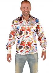 60er Jahre Rockabilly Candy Hemd Eisbar Amerika Früchtehemd