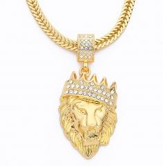 BABO Lude Macho Prolethen Hiphop Rapper Kette Necklace Löwe Lion Strass Bling