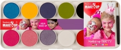 Aqua Malkasten 10 Color und Aquafarben Make Up Schminke