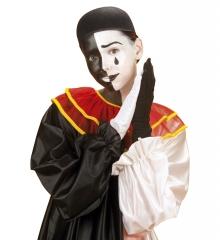 Pierrot Pierrothut Harlekin Filzkappe schwarz
