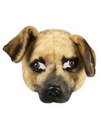 Hundemaske Plüsch lebensecht aussehend Hund Dog