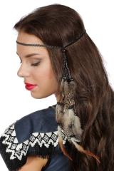 Indianerstirnband Indianerhaarband Indianerschmuck Indianerfeder