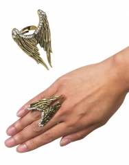 Modering Engelsrufer Engelsflügel Ring mit Flügel Strass Engelzubehör