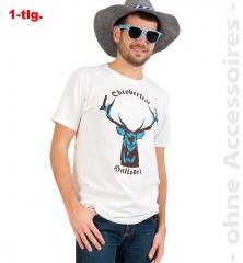 Oktoberfest-Set Shirt mit Seppelhut und Brille Hallodri Trachtenshirt