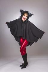 Fledermaus-Umhang Fledermauskostüm Vampir Vampirin