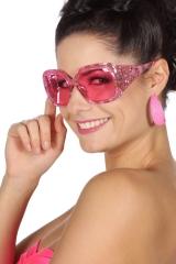 Partybrille pink 70er Jahre Brille Hippie Mottoparty