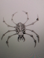 Halloweendekoration Tierskelett Spinnenskelett Arachnophobie
