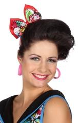Suggar Girl Haarband mit Schleife Popart 60er Jahre Candy