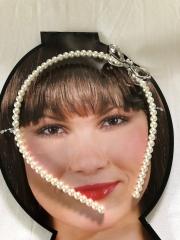 Haarreif Perlen Strass-Schleife Diadem Hochzeit Schützenfest Hofstaat