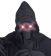 Kapuzenmaske unsichtbares Gesicht mit Leuchtaugen