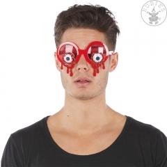 Brille blutige Augen Horrorbrille Halloween Blutbrille Spaßbrille