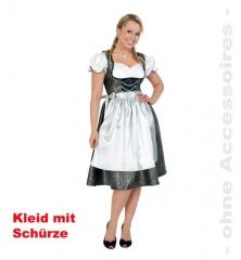 Dirndl De Luxe mit Schürze Oktoberfest Damenkleid Mottoparty Wiesn