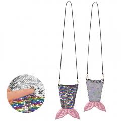 Nixe Meermaid Meerjungfrau Tasche Paillettentasche Fischtasche