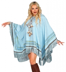 Umhang Cape Poncho Indianerponcho Mexikaner Indianerin