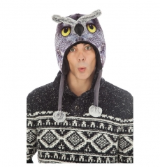 Mütze Eule Uhu Vogel Eulenmütze Wintermütze