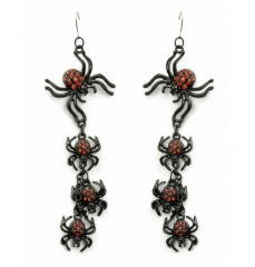 Spinnenohrringe mit roten Schmucksteinen Spinne Spinnenschmuck