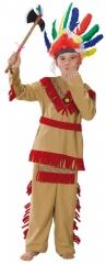 Indianer Indianerkostüm Indianerjunge Häuptling wilder Westen Gr. 128