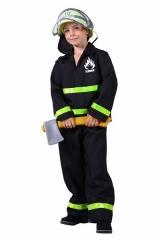 Feuerwehrkostüm Kinderfeuerwehr Feuerwehranzug mit Feuerwehrhelm
