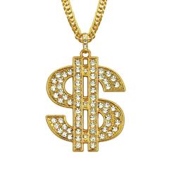 Dollarkette Dollarzeichen Prollschmuck Rapper Rapperschmuck