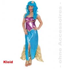 Mermaid Kleid Meerjungfrau Damenkostüm Verkleidung Mottoparty Kostümfe