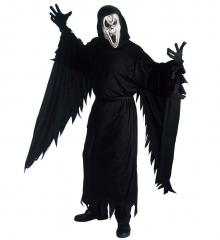 Screaming Ghost Geisterkostüm Gespensterkostüm mit Maske