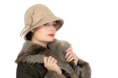 Mode 20er Jahre Hut Roaring Wollfilzhut schwarz oder beige