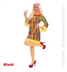 Hippie Liz Hippiekleid Damenkostüm 70er Jahre Partykleid Fasnacht Karn