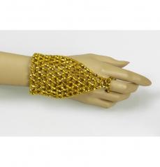 Perlenhandschuhe Handschuhe gold Handschuhe silber