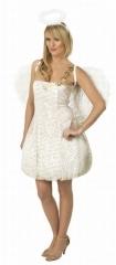 Sexy Engel Kleid Damenkostüm Mottoparty Weihnachten Heiligabend