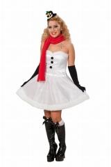Schneefrau Damenkostüm Weihnachtskostüm Mottoparty Kostümfest Verkleid