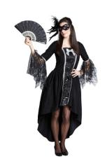 Maskenball Damenkostüm Kostümfest Lady Faschingskostüm Verkleidung