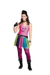 Punkgirl Teeniekostüm Faschingskostüm Rockergirl Karnevalsverkleidung
