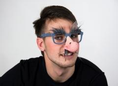 Nase mit Brille und Nasenhaaren Zubehör Nerd Faschingsparty Kostümfest