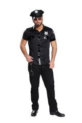 Sexy Polizist Polizei Hemd Herrenhemd Fasching Karneval Mottoparty
