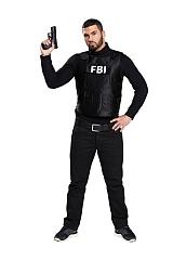 Kugelsichere FBI Weste für Herren Faschingsverkleidung Fasnacht Kostüm