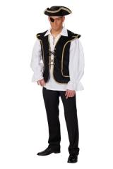 Piratenweste Herrenweste Verkleidung Mottoparty Karneval Zubehör Kostü