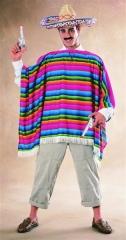 Sombrero Poncho Mexikaner Kostüm Karneval Fasching