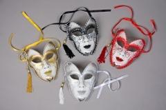 Venezianische Glittermaske Maskenball Zubehör Faschingsparty Kostümfes