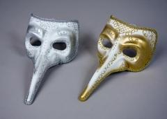 Venezianische Schnabelmaske Pantalone Maskenball